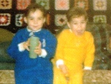 Me at 4 years old with brother
