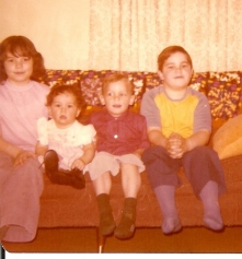Me at 8 years old with sister and brothers